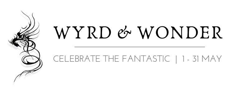 "Stylised dragon logo, with the text ""Wyrd & Wonder 